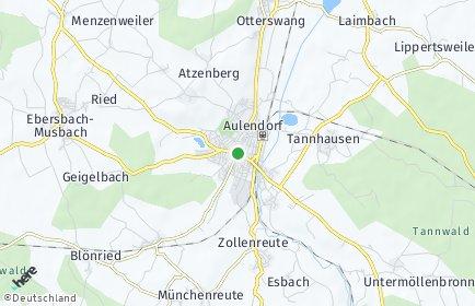 Stadtplan Aulendorf