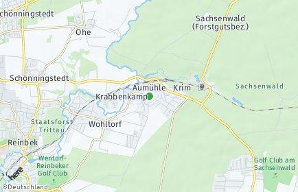 Stadtplan Aumühle