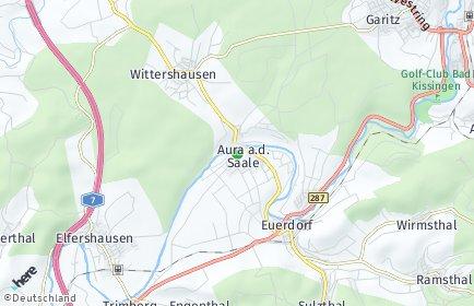 Stadtplan Aura an der Saale