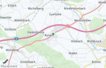 Stadtplan Aurach