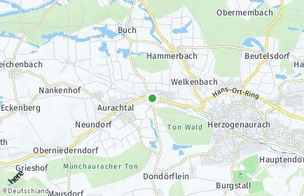 Stadtplan Aurachtal