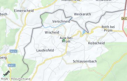 Stadtplan Auw bei Prüm