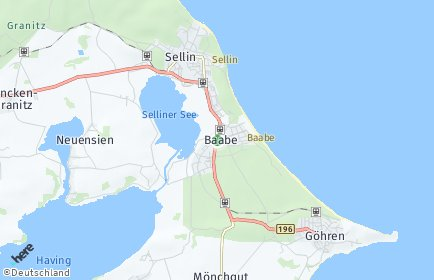 Stadtplan Baabe