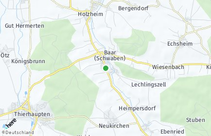 Stadtplan Baar (Schwaben)