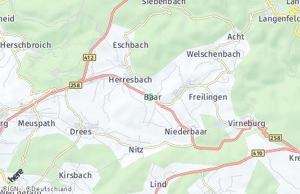 Stadtplan Baar (Eifel)