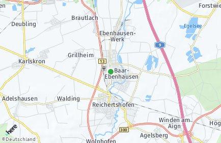 Stadtplan Baar-Ebenhausen