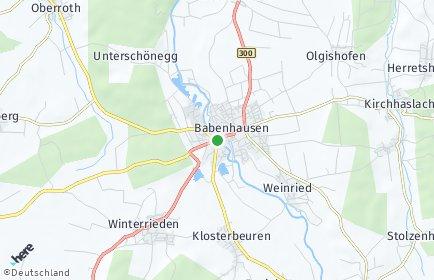 Stadtplan Babenhausen (Schwaben)