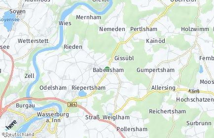 Stadtplan Babensham