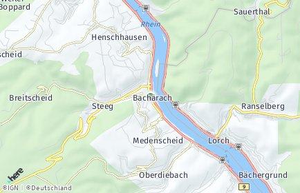 Stadtplan Bacharach