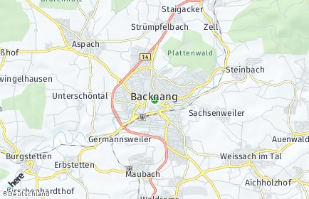 Stadtplan Backnang