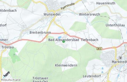 Stadtplan Bad Alexandersbad