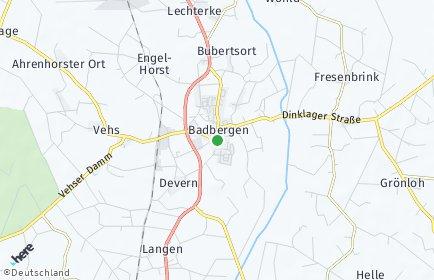 Stadtplan Badbergen