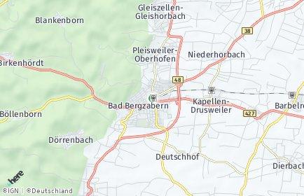Stadtplan Bad Bergzabern