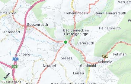 Stadtplan Bad Berneck im Fichtelgebirge