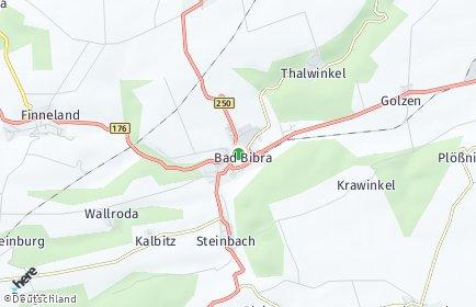 Stadtplan Bad Bibra