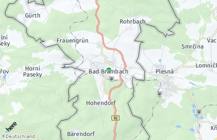 Stadtplan Bad Brambach