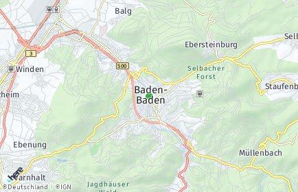 Stadtplan Baden-Baden