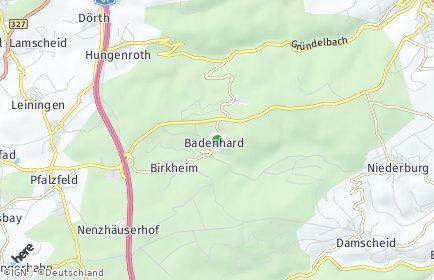 Stadtplan Badenhard