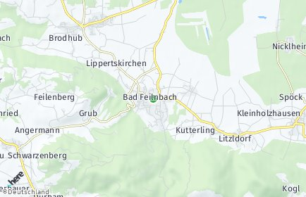 Stadtplan Bad Feilnbach OT Schweigfeld bei Bad Aibling