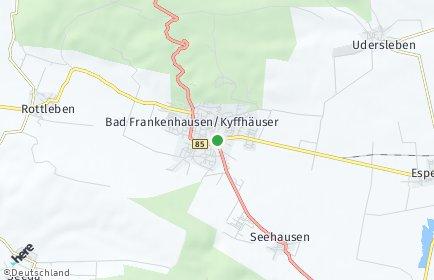 Stadtplan Bad Frankenhausen/Kyffhäuser OT Ichstedt