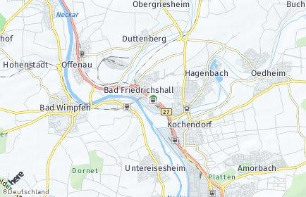 Stadtplan Bad Friedrichshall OT Duttenberg