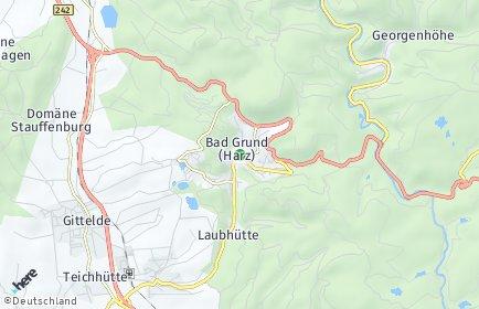 Stadtplan Bad Grund (Harz)