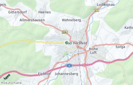 Stadtplan Bad Hersfeld