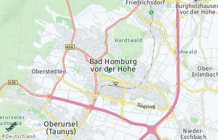 Stadtplan Bad Homburg vor der Höhe