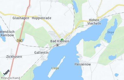 Stadtplan Bad Kleinen OT Hoppenrade