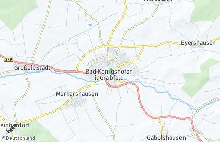 Stadtplan Bad Königshofen im Grabfeld