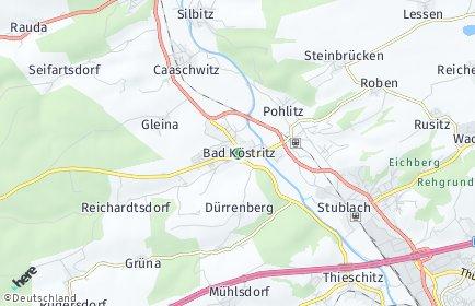 Stadtplan Bad Köstritz