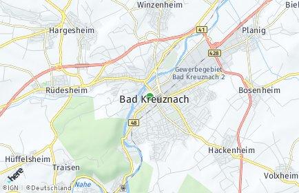 Stadtplan Bad Kreuznach
