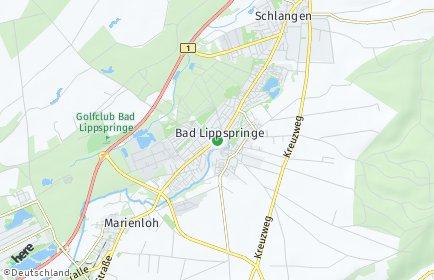 Stadtplan Bad Lippspringe