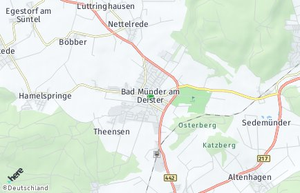 Stadtplan Bad Münder am Deister