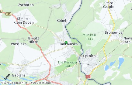 Stadtplan Bad Muskau
