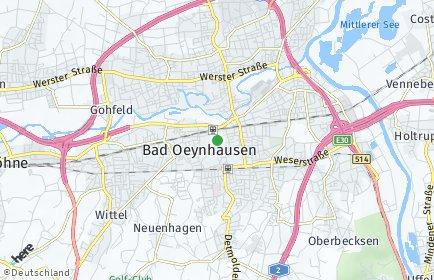 Plz Bad Oeynhausen Postleitzahl Nordrhein Westfalen Deutschland