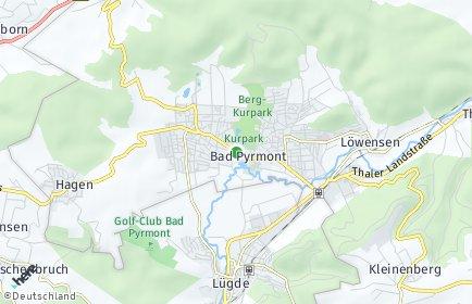 Stadtplan Bad Pyrmont