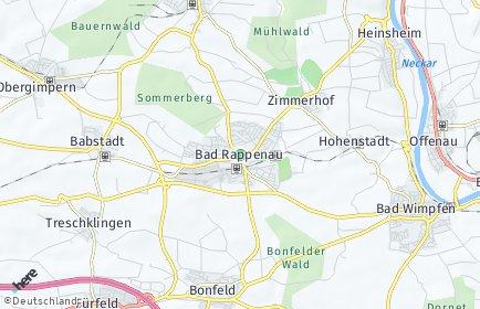 Stadtplan Bad Rappenau
