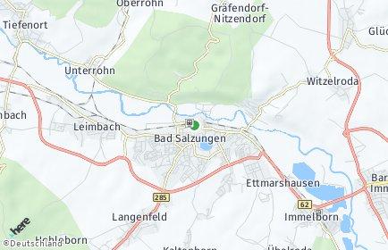 Stadtplan Bad Salzungen OT Waldfisch