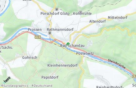 Stadtplan Bad Schandau OT Krippen