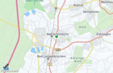 Stadtplan Bad Schönborn