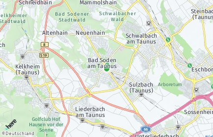 Stadtplan Bad Soden am Taunus