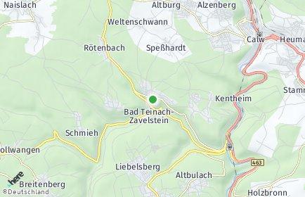 Stadtplan Bad Teinach-Zavelstein