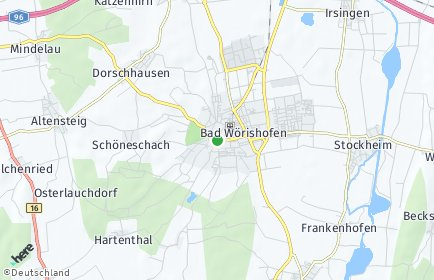 Stadtplan Bad Wörishofen