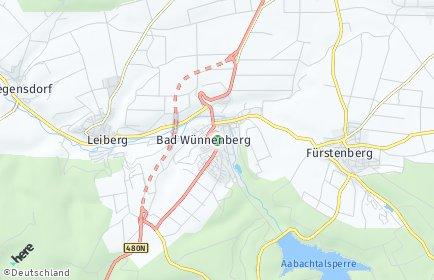 Stadtplan Bad Wünnenberg