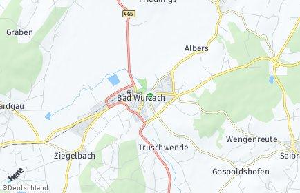 Stadtplan Bad Wurzach OT Ziegolz