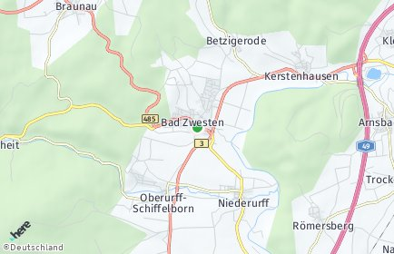 Stadtplan Bad Zwesten