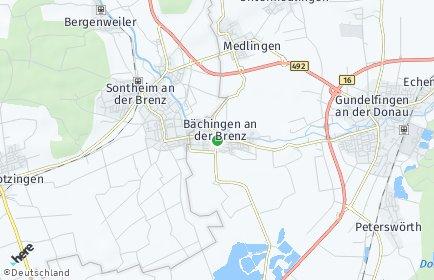 Stadtplan Bächingen an der Brenz