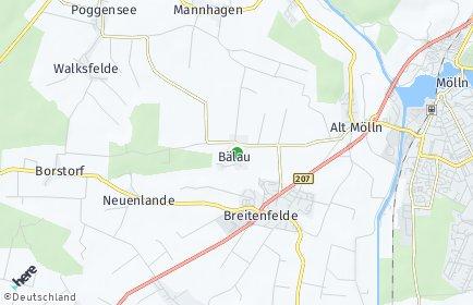 Stadtplan Bälau