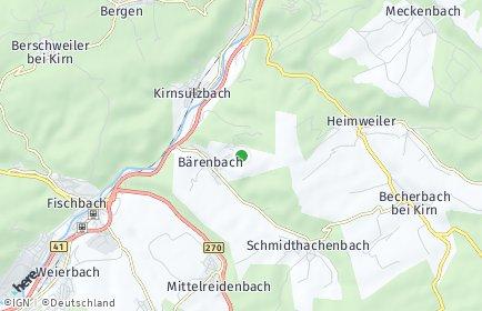 Stadtplan Bärenbach bei Idar-Oberstein